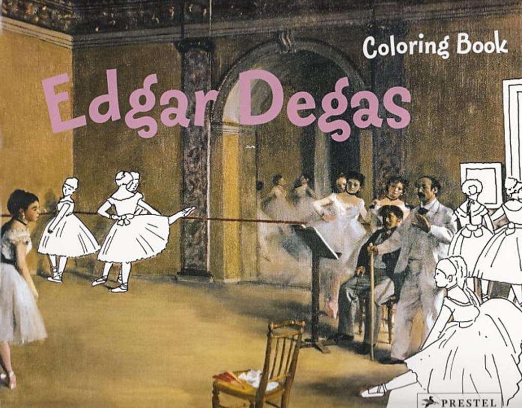 Edgar Degas malebog coloring book