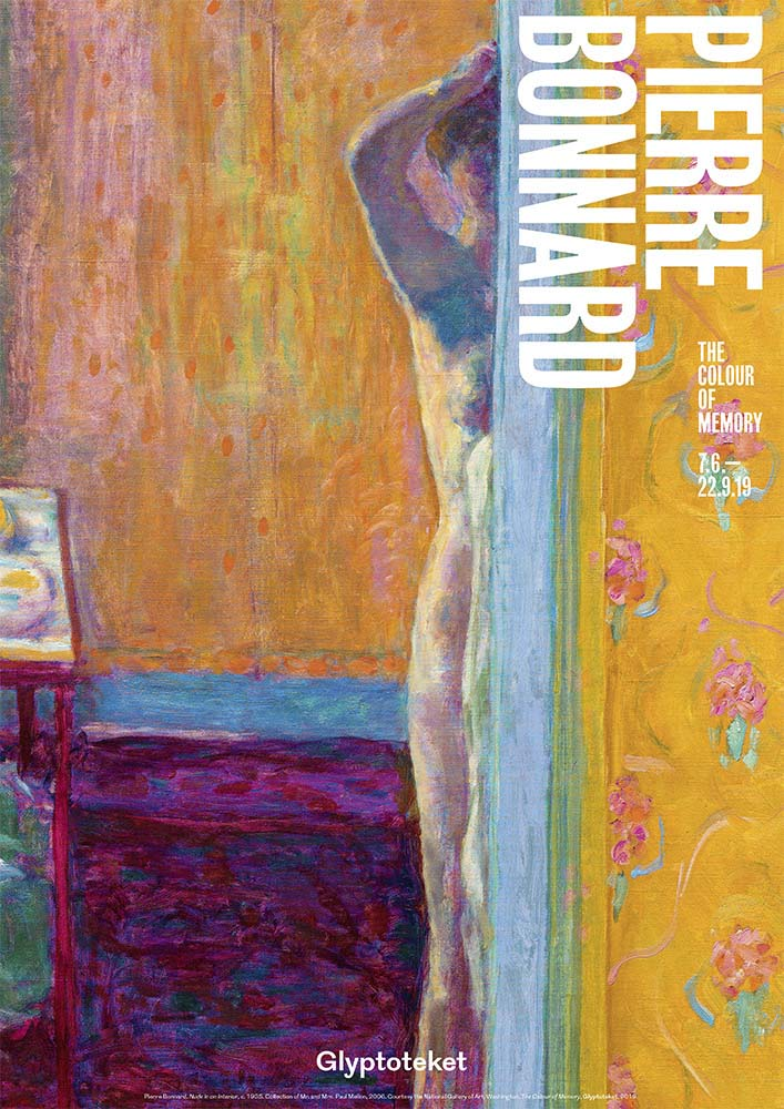 Pierre Bonnard Udstillingsplakat Glyptoteket Exhibition poster