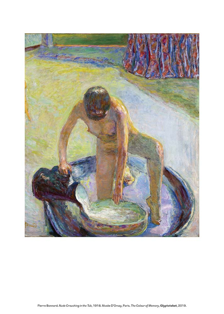 Pierre Bonnard print Nude Crouching in the Tub