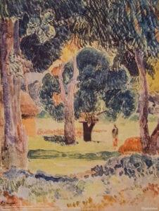 Gauguin print Landskab landscape